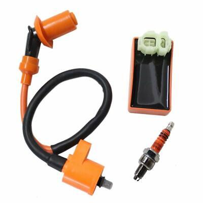 $15.99 • Buy Racing AC 6 Pin CDI Box Ignition Coil Spark Plug For GY6 50-150cc Moped Scooter
