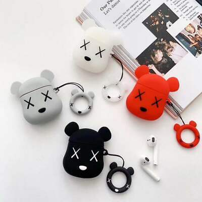AU10.99 • Buy For Apple AirPods Case Violent Bear Silicone Cover Skin Earphone Charger Cases
