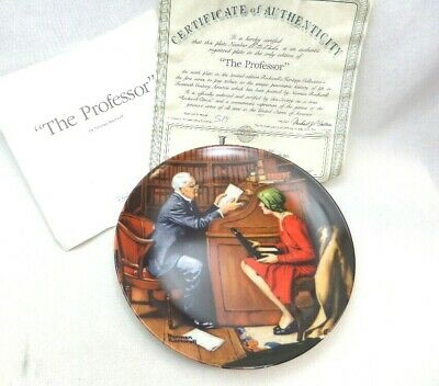 $ CDN19.98 • Buy Norman Rockwell Collector Plate   The Professor   Edwin M Knowles