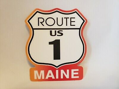 $4.54 • Buy USA Route 1 State Of MAINE Highway Sign Decal Sticker