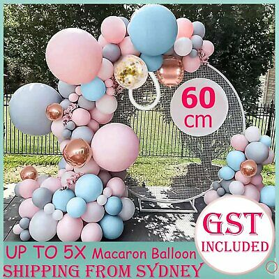 AU2.39 • Buy Giant 60cm Macaron Latex Helium Balloon Circular Balloons Birthday Wedding 24  A