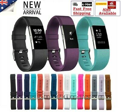 AU7.99 • Buy Fitbit Charge 2 Replacement Band Secure Watch Strap Wristband Metal Buckle HR AU