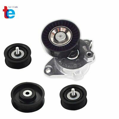 Belt Tensioner W/ Pulley + Idler Pulley For Mercedes C300 C350 E350 ML350 (4pcs) • 45.88$