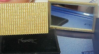 £32.99 • Buy 100% Authentic YSL Makeup Heavy MIRROR In Gold With Pouch~ Limited Very Rare