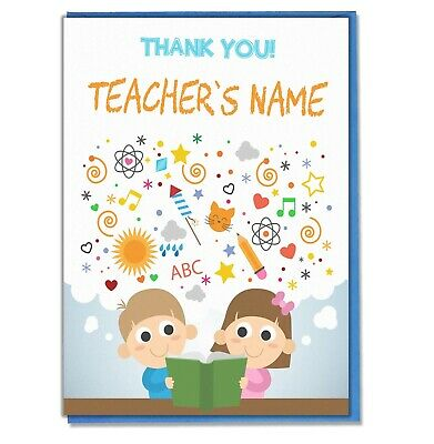 Personalised Thank You Card Teacher Teaching Assistant Head Master Mistress 04 • 3.49£