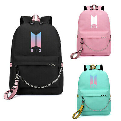 $22.99 • Buy Kpop BTS Backpack Bangtan Boys School Backpack Bookbag Women Men Bag W/ USB Port
