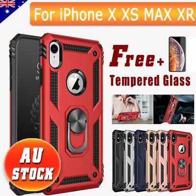 AU7.99 • Buy For IPhone X XS MAX XR Case Heavy Duty Shockproof Magnetic Armor Cover Stand