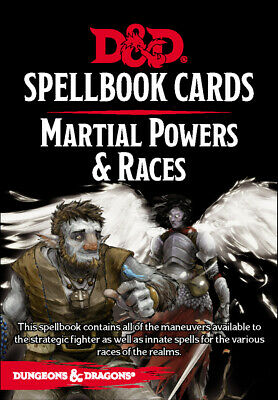AU23.99 • Buy RPG - Dungeons And Dragons - Spellbook Cards Martial Powers And Races Deck NEW!