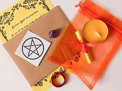 Spell Agate Ring Kit Bag - Choose From List - Witch Pagan Wicca Witchcraft Magic • 3.89£