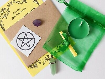 Spell Pendant Kit Bag - Choose From List - Witch Pagan Wicca Witchcraft Ritual • 4.49£