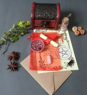 Spell Pendant Kit Chest - Choose From List - Witch Pagan Wicca Witchcraft Ritual • 13.99£