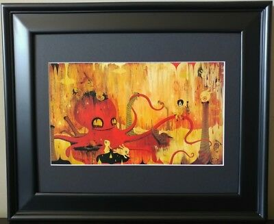 £124.22 • Buy Camille Rose Garcia The Fall Red Octopus Art Spread Love No Hate