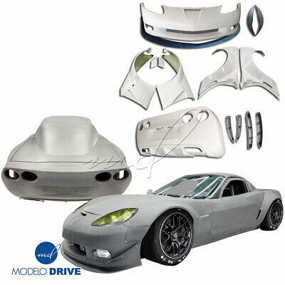 ModeloDrive FRP GT3-XL Wide Body Kit For Chevrolet Corvette C6 05-13 • 2,000$