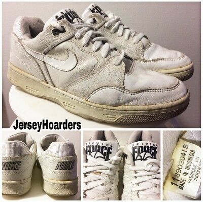AU193.51 • Buy VINTAGE 80's 1989 NIKE DRIVING FORCE LOW (WHT/ GRY/ BLK) OG BASKETBALL SHOES 11
