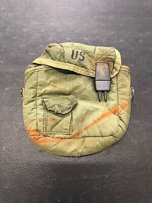 $ CDN9.06 • Buy USMC Marine Corps Green Cover Water Canteen 2 Qt Collapsible Without Sling