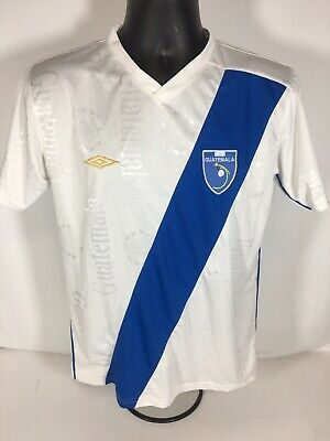 $24.95 • Buy Umbro Guatemala Soccer Jersey Size Small White And Blue All Over Print Rare
