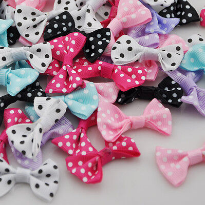 60pcs Satin Ribbon Bows Flowers For Appliques Crafts Wedding A29 • 2.79£