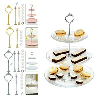 2/3 Tier Cake Stand Cupcake Fittings Wedding Party Parts Kit Accessory Use • 3.06£