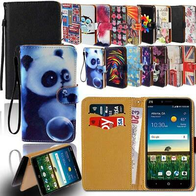 AU6.99 • Buy Leather Smart Stand Wallet Case Cover For Various ZTE Nubia Phones