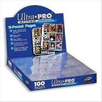 Ultra Pro Silver 9 Card Pocket Pages X30 Sleeves New Trading Cards • 9.05£
