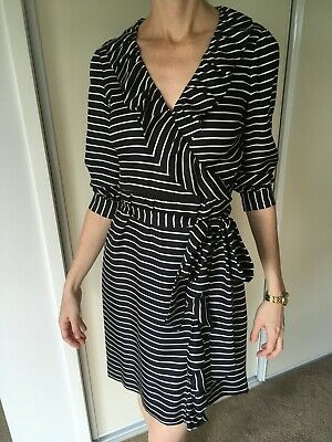 AU50 • Buy Kate Spade Dress US 0 AU 6 Black White Stripes, Pre-owned