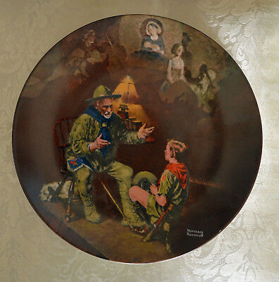 $ CDN17 • Buy THE OLD SCOUT Norman Rockwell Collector Plate Edwin M Knowles China Co Boy Scout