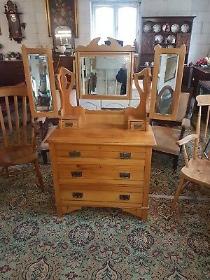 £150 • Buy Art Nouveau/ Edwardian Dressing Table With Triple Mirrors