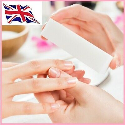 Nail Art Buffer Acrylic Sanding Block Files Washable Soft Sponge White & Pink • 2.80£