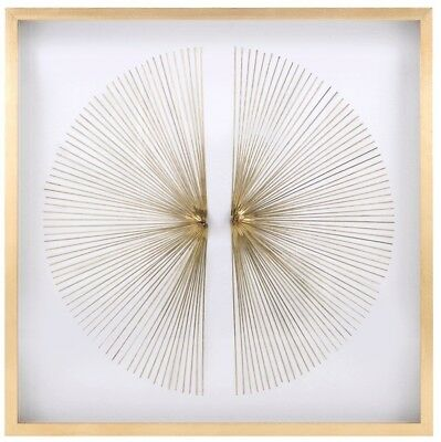 Copper Wire Starburst Metal Wall Art Sculpture In Shadowbox 35.5  Square • 374.15£