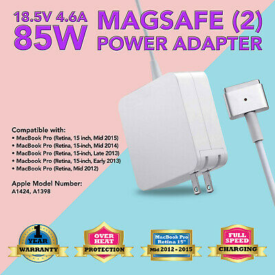 $16.56 • Buy 85W Power Adapter Charger For Apple Mac MacBook Pro 13  15  17  A1398 A1424