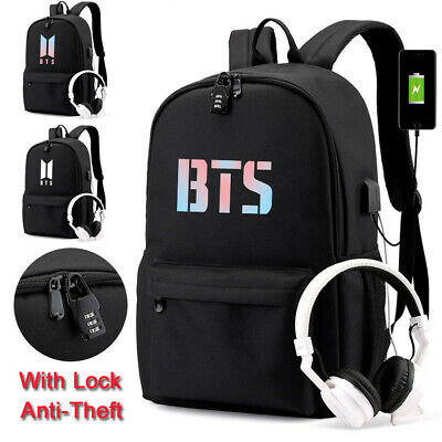 $22.16 • Buy Anti-Theft Kpop BTS Bangtan Boy Backpack Unisex Schoolbag Laptop Travel Book Bag