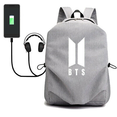$22.46 • Buy Kpop BTS Backpack Bangtan Boys School Bookbag Travel Backpack Bag With USB Port