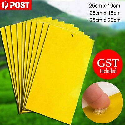 AU6.39 • Buy 10/20Pc Yellow Sticky Insect Killer Whitefly Thrip Fruit Fly Gnat Leafminer Trap