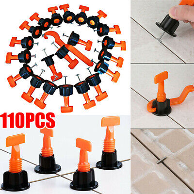 110pcs Tile Positioning Leveler System Kits Tile Spacer Reusable Wall Floor Tool • 13.31£