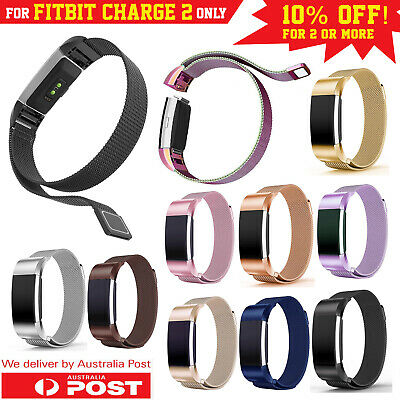 AU9.95 • Buy For Fitbit Charge 2 Band Metal Stainless Steel Milanese Strap Bracelet Wristband