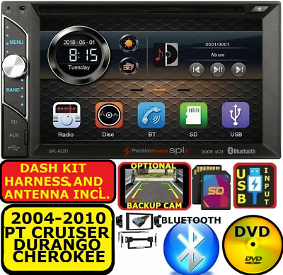 $229.99 • Buy 2004-2010  Pt Cruiser-durango-grand Cherokee Cd/dvd Bluetooth Usb Car Stereo