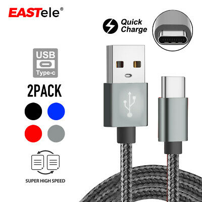 AU5.95 • Buy 2x Type C Data Fast USB Charging Cable For Samsung Galaxy S10 Note 10 Plus A50