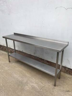 Stainless Steel Table With Under-shelf And Up-stand TOP QUALITY (1800 X 450mm) • 399.99£