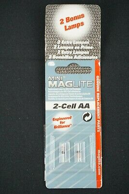 Mini Maglite Replacement Bulbs For 2 Cell AA Mini Mag NOS • 8.19£