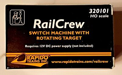 $ CDN23.99 • Buy Rapido Trains Rail Crew Ho Scale Switch Machine With Rotating Target 320101 F/s