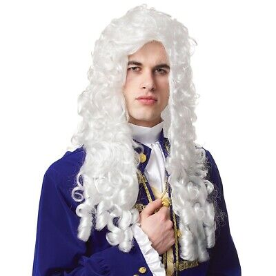 $19.10 • Buy Powdered Wig Adult Mens Colonial 18th C Costume Baroque Fancy Dress