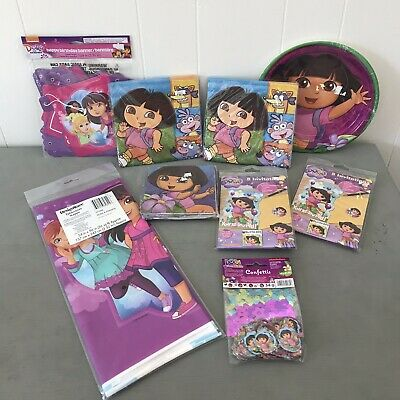 Lot Of 9 Dora The Explorer & Friends Birthday Party Favors Napkins Banner Plates • 12.79£