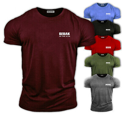 Mens Gym T Shirt | Bodybuilding Top MMA GYM Clothing Training Vest Bebak • 11.99£