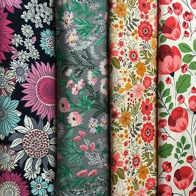 £7.75 • Buy Rose&Hubble Pretty Florals Medium 100% Cotton Fabric Craft, Quilting, Patchwork