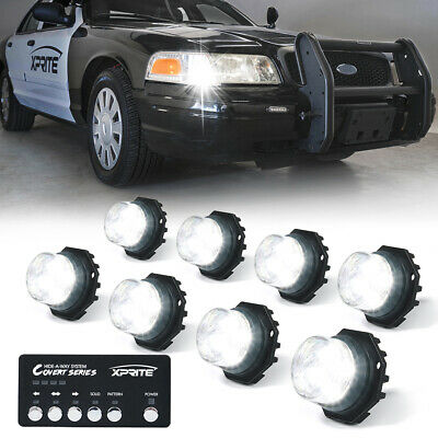 $110.49 • Buy Xprite 8PCS Hide-A-Way Strobe Lights LED For Internal Headlight + Control System