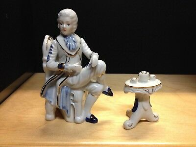$ CDN45 • Buy Collectible Vintage Rare Figurine Victorian Man At A Table  Fine  Porcelain