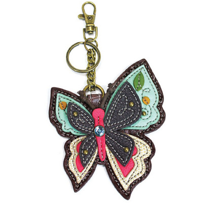 $15.50 • Buy Chala Whimsical Butterfly Key Chain Coin Purse Leather Bag Fob Charm New