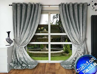 Crushed Velvet Curtains Eyelet Ring Top Thick 108 Long Huge NEXT DAY Fully Lined • 63.99£