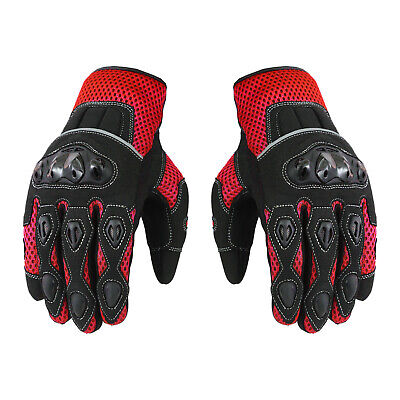 Motorcycle Motocross Racing Scooter Summer Gloves Knuckle Protection Armoured • 18.99£