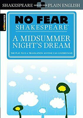 SparkNotes - A Midsummer Nights Dream (No Fear Shakespeare) • 6.67£